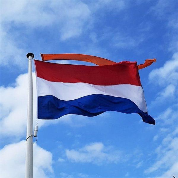 Nederlands vlag met oranje wimpel | Welroos Media