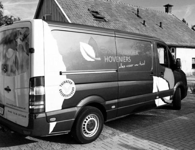 Belettering Portfolio - Van Rijbroek Hoveniers | Welroos Media